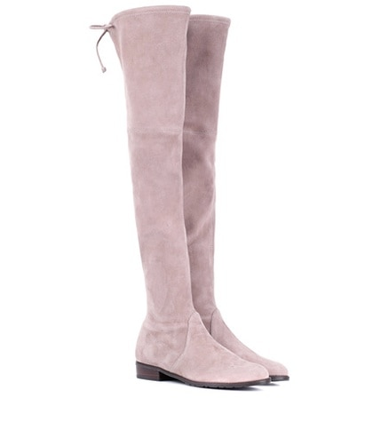 Stuart Weitzman - Lowland Skimmer Suede Over-The-Knee Boots - Neutrals