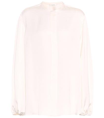 The Row - Maura Silk Shirt - White