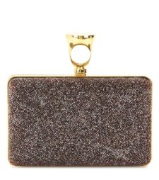 Tom Ford - Micro Rock Embellished Box Clutch - Red