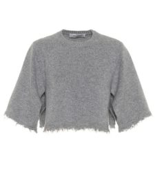 Valentino - Cropped Cashmere Sweater - Gray