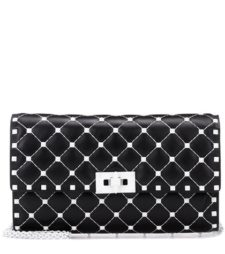 Valentino -  Free Rockstud Spike Leather Shoulder Bag - Black