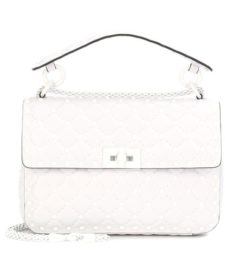 Valentino -  Free Rockstud Spike Leather Shoulder Bag - White