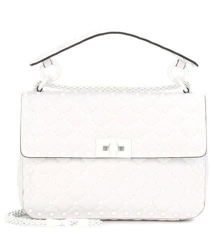 Valentino -  Free Rockstud Spike Leather Shoulder Bag - White