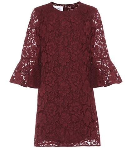 Valentino - Lace Minidress - Red