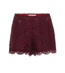 Valentino - Lace Shorts - Red