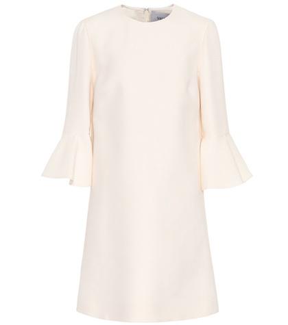 Valentino - Wool And Silk Dress - White