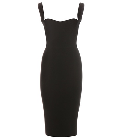 Victoria Beckham - Curve Cami Fitted Dress - Black