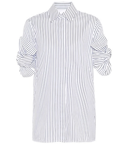 Victoria Victoria Beckham - Striped Cotton Shirt - Blue