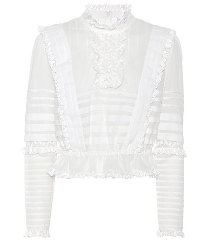 Zimmermann - Helm Layered Frill Cotton Top - White
