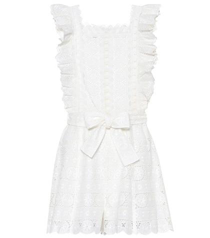 Zimmermann - Kali Daisy Cotton Playsuit - White