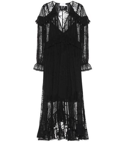 Zimmermann - Lovelorn Cape Crêpe Dress - Black