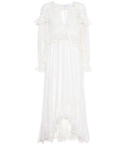 Zimmermann - Lovelorn Cape Silk Dress - White