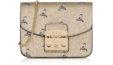 Furla - Mini Owl Printed Saffiano Leather Metropolis Mini Crossbody Bag