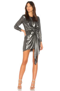 Krisa - Seymore Draped Dress - Silver