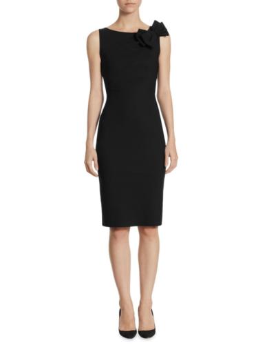 Chiara Boni La Petite Robe - Sleeveless Bow Accented Dress - Black