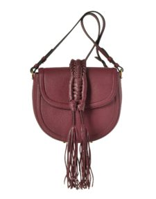 Altuzarra - Ghianda Knot Garnet Red Leather Saddle Bag