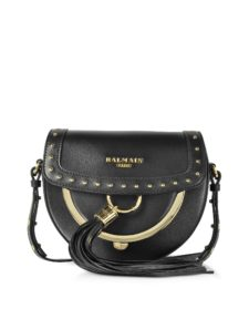 Balmain - Domaine 18 Glove Black Leather Crossbody Bag