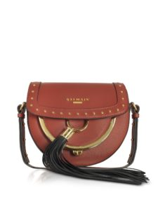 Balmain - Domaine 18 Glove Terre de Sienne Leather Crossbody Bag