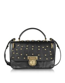 Balmain - Renaissance 28 Intarsio Black Leather Satchel Bag