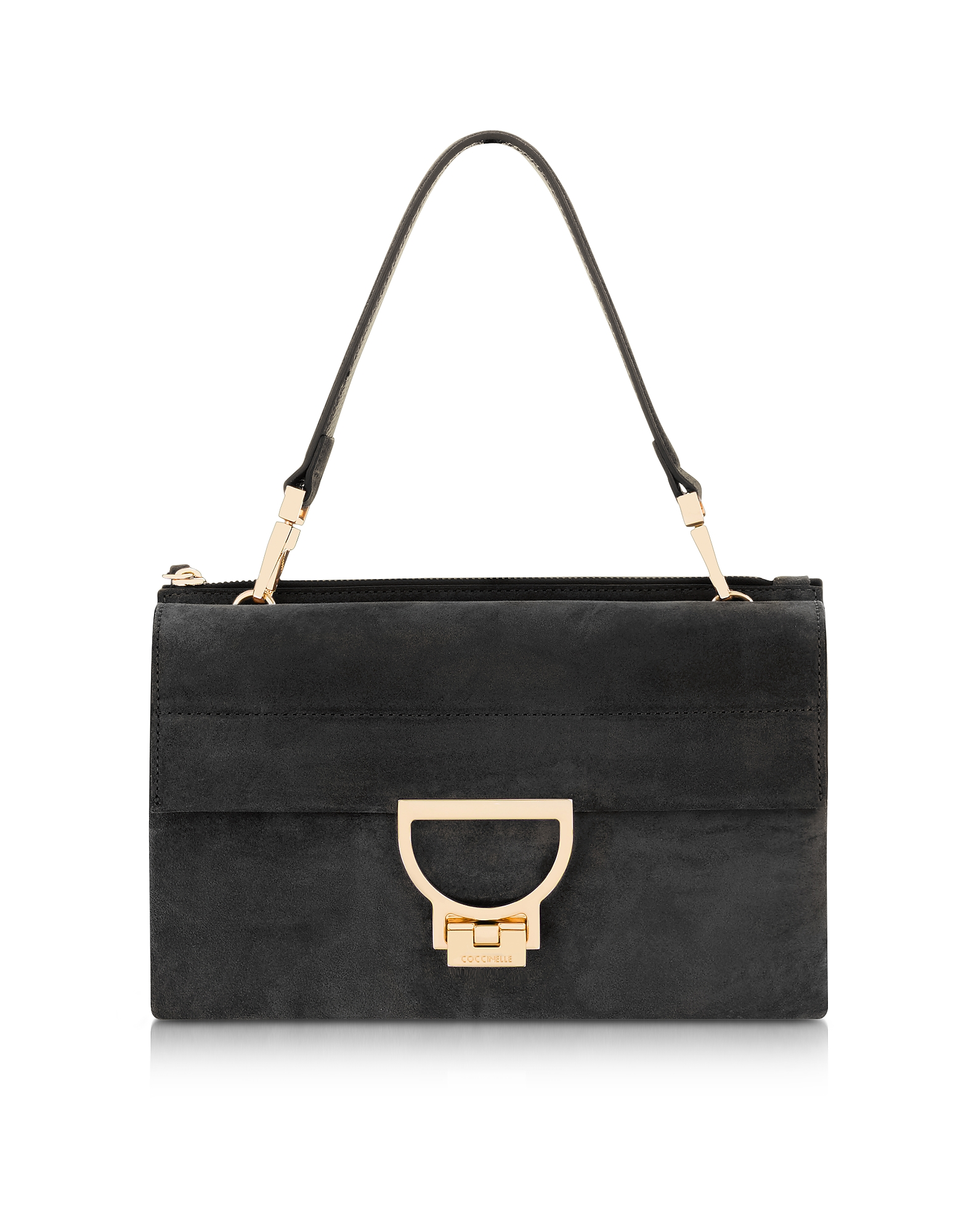 fab09d0b3980 Coccinelle - Black Suede Arlettis Shoulder Bag