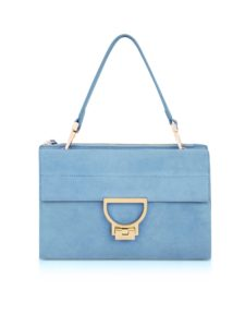 Coccinelle - Sky Blue Suede Arlettis Shoulder Bag