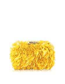 Corto Moltedo - Susan C Star Yellow Explosion Nappa Leather Clutch