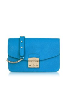 Furla - Cerulean Blue Metropolis Small Shoulder Bag