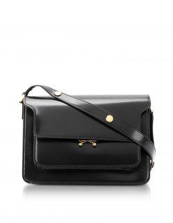f64769ecb9d MERSOR – Personalized Crossbody Bag – Black   Silver  409. Marni - Black  Patent Leather Trunk Bag