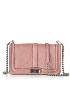 Rebecca Minkoff - Embossed Nubuck Love Crossbody Bag
