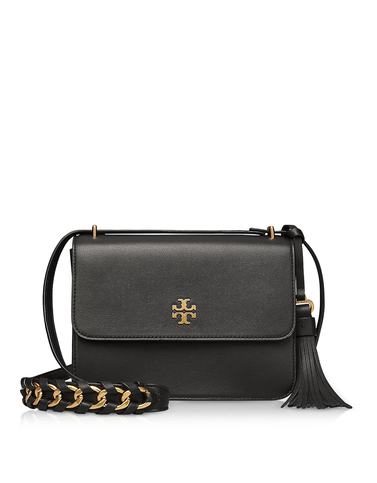 9fb765087641 Tory Burch - Brooke Black Leather Shoulder Bag
