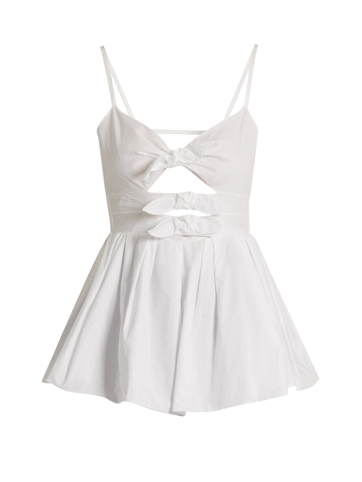 d0ed1936c4 Delpozo - Triple-Bow Cotton-Poplin Top