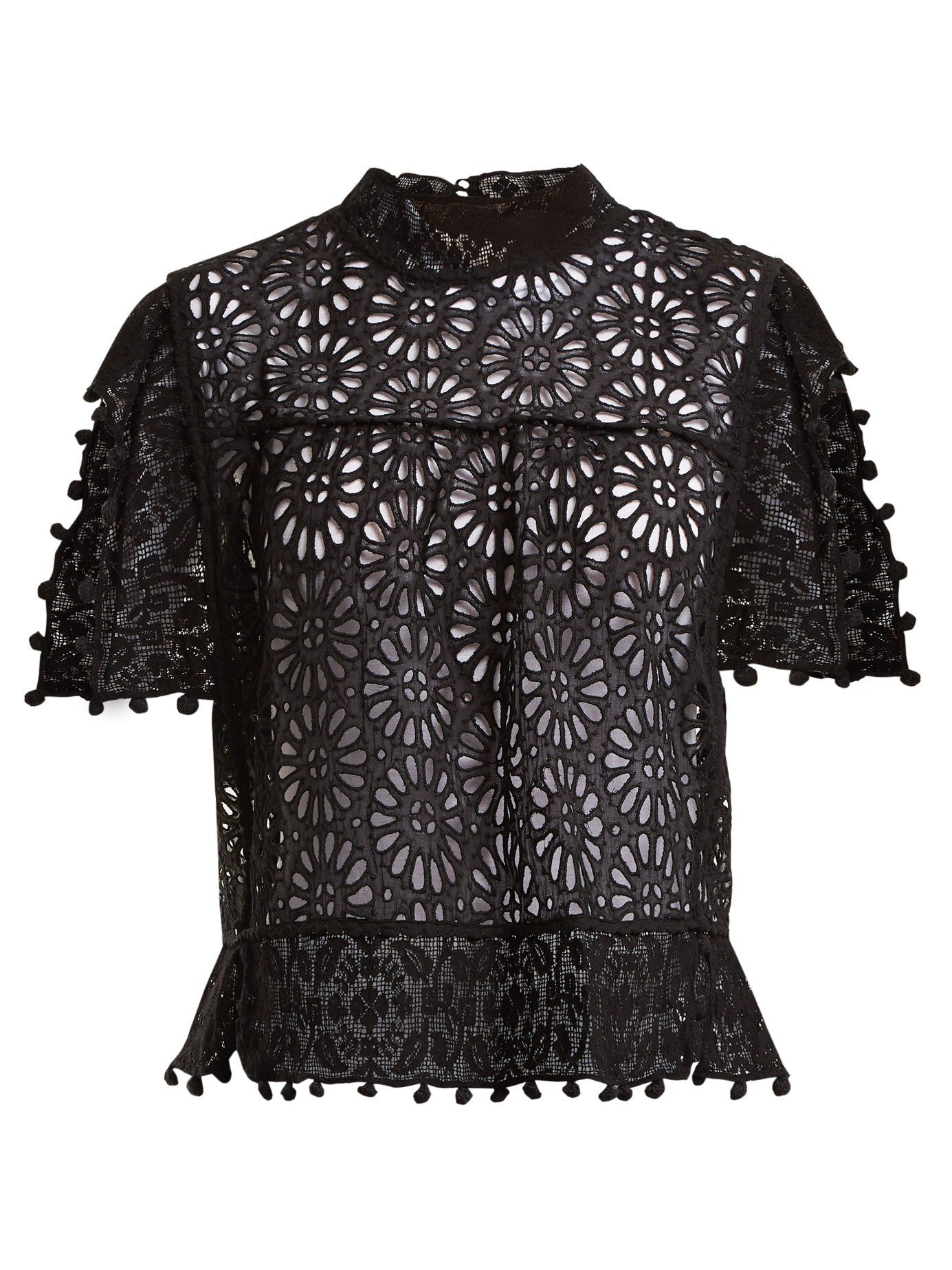 e3caa5510f Isabel Marant - Kery Broderie-Anglaise Pompom-Trimmed Top | FASHION ...