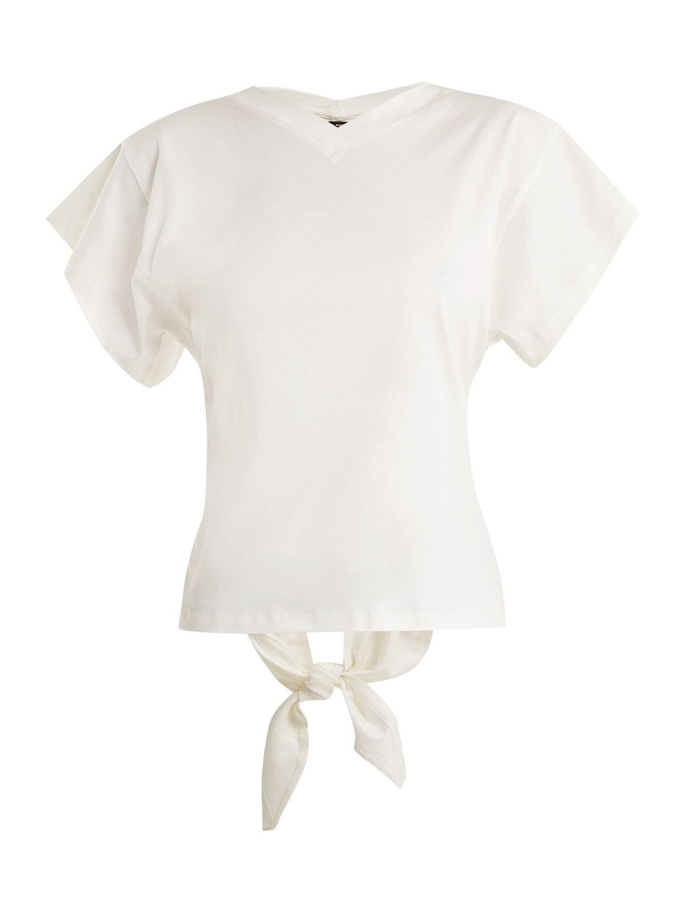 4045f5e5928 Isabel Marant - Ramses V-Neck Cotton-Jersey T-Shirt   FASHION STYLE FAN