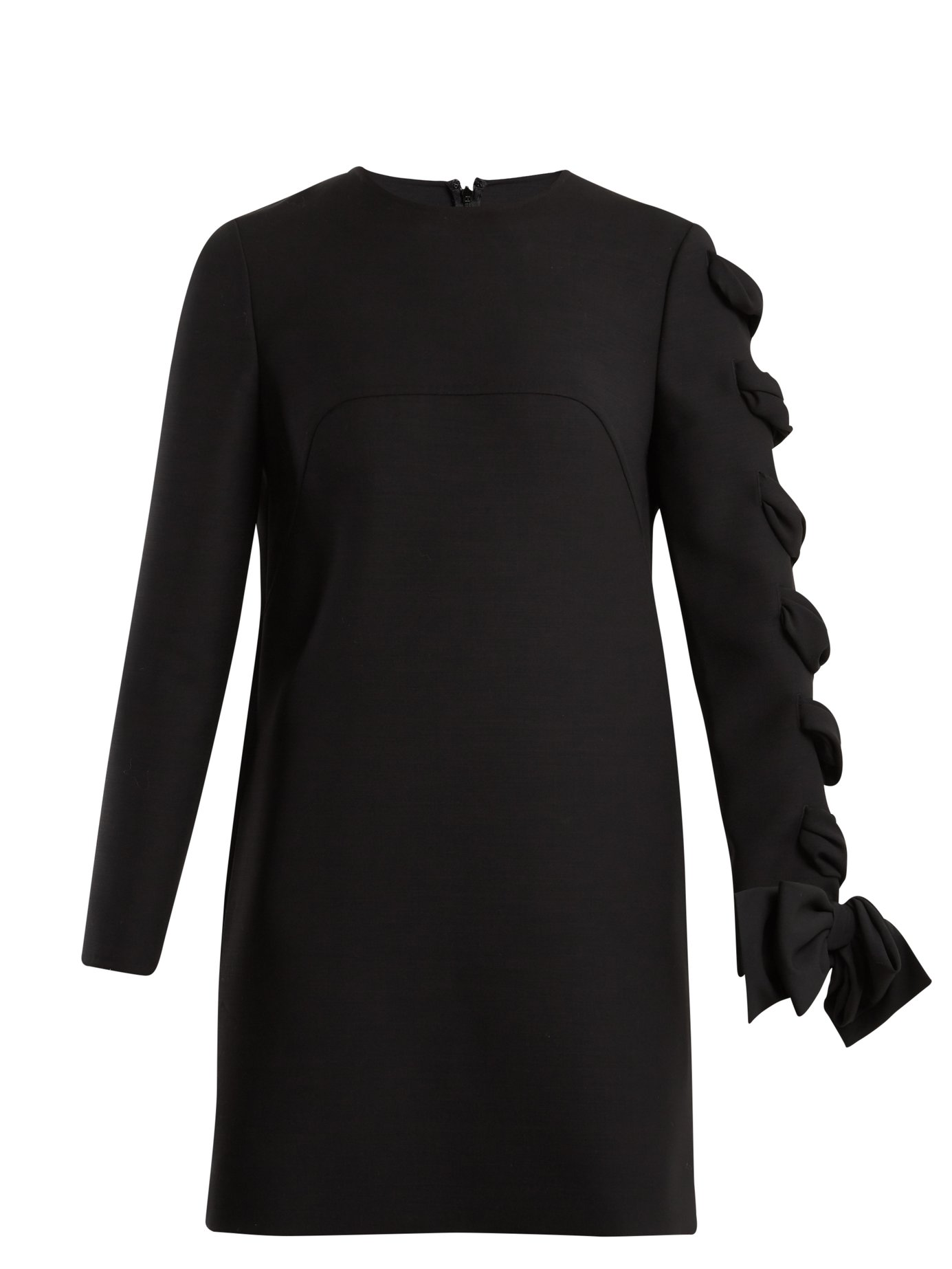 7f33d355e4e Valentino - Round-Neck Wool-Cady Dress