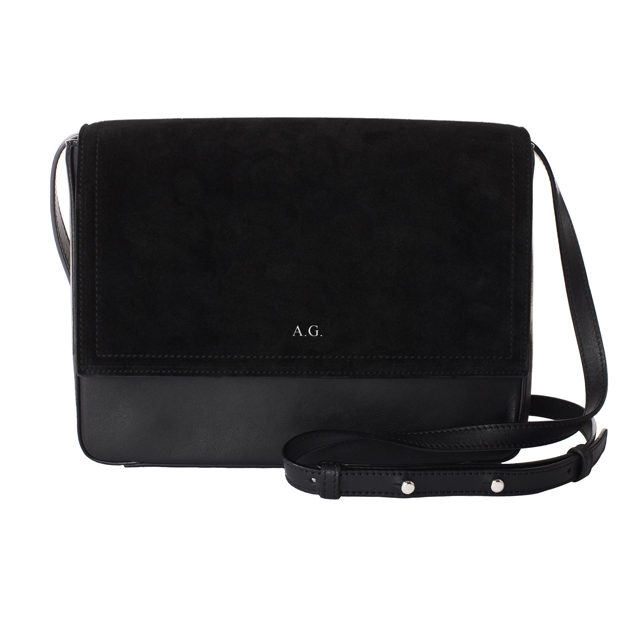 1420bca27d1 MERSOR - Personalized Crossbody Bag - Black   Silver   FASHION STYLE FAN