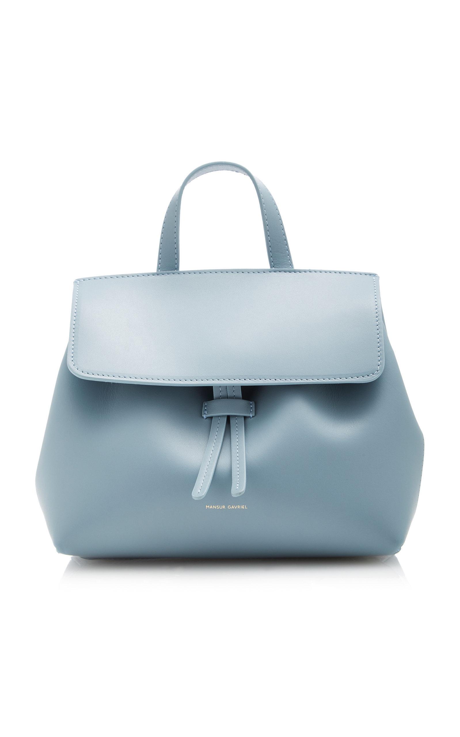 e1abafcd5 Mansur Gavriel - Lady Mini Leather Tote - Blue | FASHION STYLE FAN