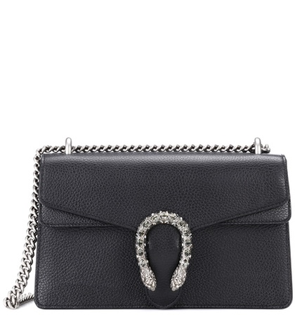 24fd7c054052 Gucci - Dionysus Small Leather Shoulder Bag - Black | FASHION STYLE FAN