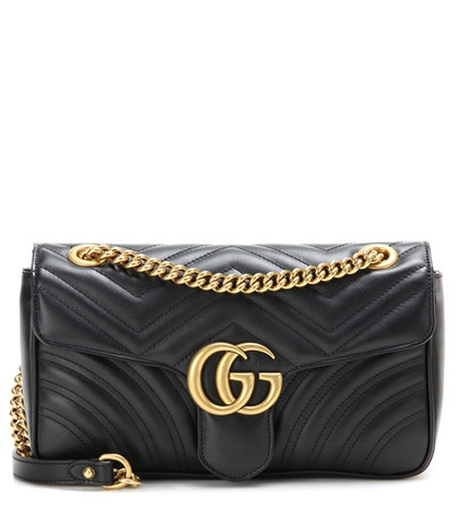 01ebcb210006 Gucci - Gg Marmont Matelassé Leather Shoulder Bag - Black | FASHION ...