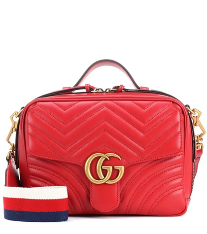 166b3ed2a35 Gucci - Gg Marmont Matelassé Leather Shoulder Bag - Red