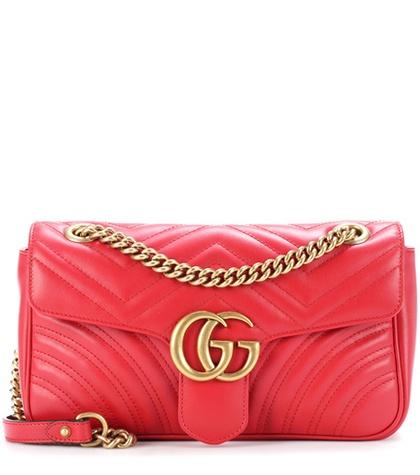 6b94c7eee1c175 Gucci - Gg Marmont Matelassé Leather Shoulder Bag - Red   FASHION ...