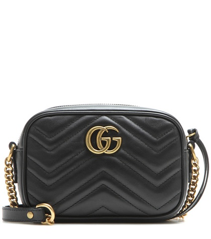 f35a769f112 Gucci - Gg Marmont Mini Matelassé Leather Crossbody Bag - Black ...