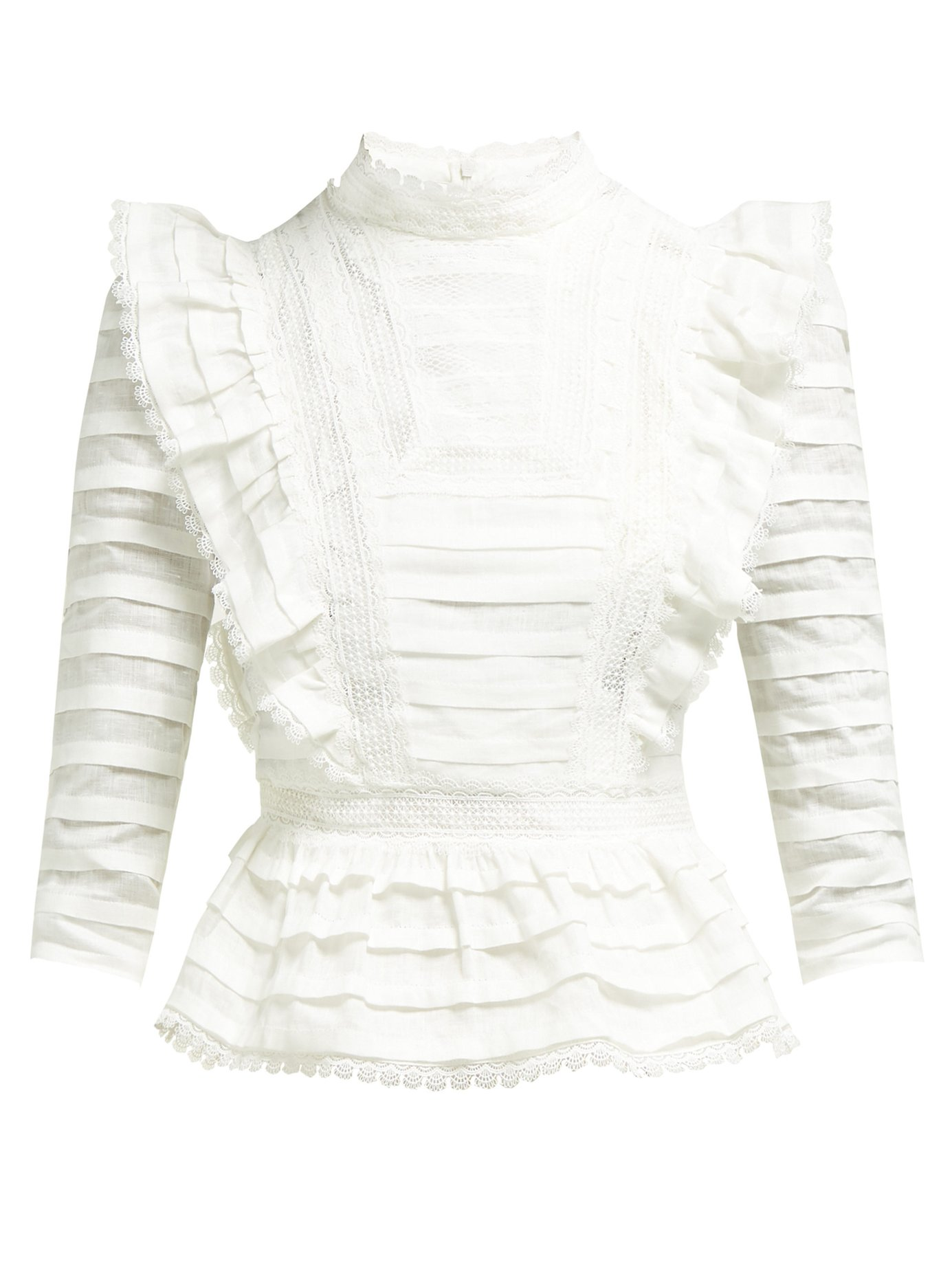 White Pintuck Blouse