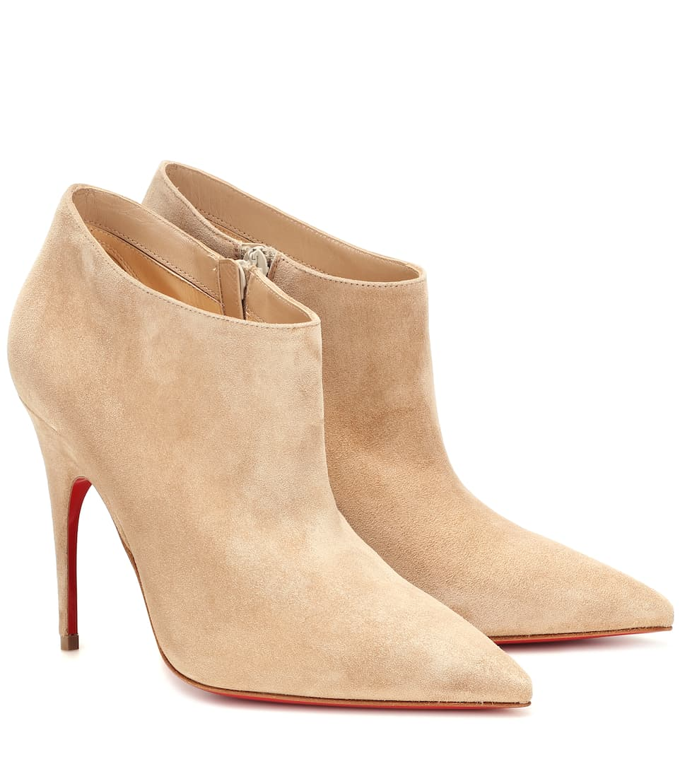 hot sale online c8ace 3ddfc Christian Louboutin - Gorgona 100 Suede Ankle Boots